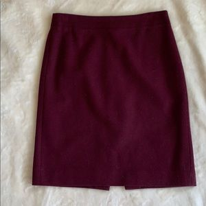 EUC J. Crew Wool Pencil Skirt